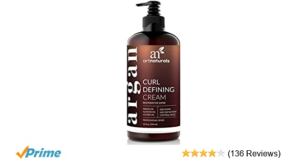 ArtNaturals Curl Defining Cream - (12 Fl Oz / 355ml) - Curls Amplifier with  Argan Oil - for Wavy and Curly