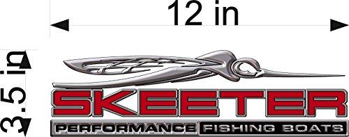 Skeeter Fishing 3D Logo/RED / 12