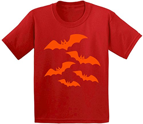 Awkward Styles Halloween Bats Youth T shirts Kids Tees Halloween Costume Evil Bats Red (Basketball Themed Halloween Costume)