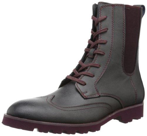 Calvin Klein Men's Gale Boot,Dark Charcoal/Wine,9.5 M US by Calvin Klein