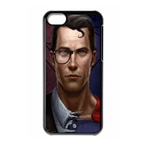 Superman iPhone 5C Case, Iphone 5c Cases For Girls Protective Protector Cute Yearinspace - Black
