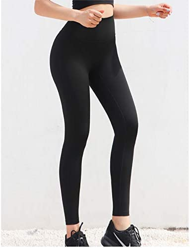 Pantalones De Yoga Elásticos De Cintura Alta Para Mujer Leggings ...