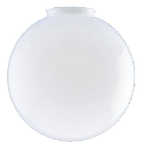 Polycarbonate Light Globes - 6-Inch White Globe - 3-1/4-Inch Fitter Opening (Polycarbonate, 1-Pack)