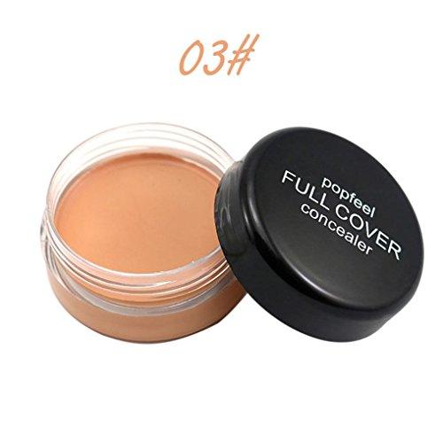 Popfeel Makeup Concealer Foundation Secret Concealer for Women, Staron Cover Everything Concealers Neutralizing Natural Makeup Cream Concealer Corrector Makeup Foundation (C)