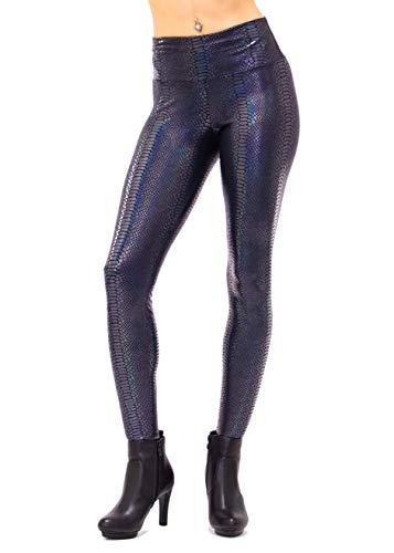 Burning Man Costumes Los Angeles - Women's Holographic Snake Leggings: 80's Costume