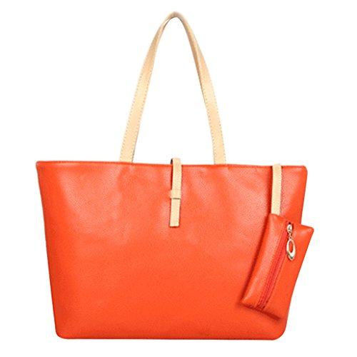 Pengyu femme pour femme Cabas pour Orange Cabas Cabas Pengyu Orange Orange pour femme Pengyu Z7SxUZ