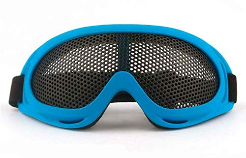 - Amazona's presentz Wide Vision Anti Fog Wire Mesh Goggles Tactical Antiriot Shooting Airsoft BB Gun Protection (Blue)