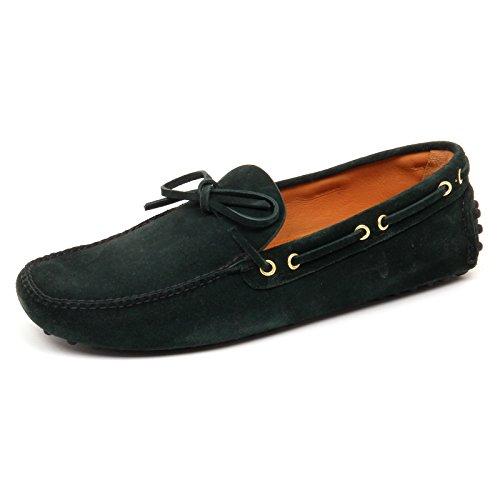 D2506 Mocassino Uomo Car Shoe Scarpe Verde Loafer Man Green