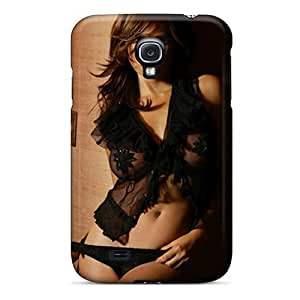 Awesome TkZkRwM3422pprNx MeSusges Defender Tpu Hard Case Cover For Galaxy S4- Black Girl Hd