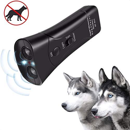 Sares Anti Barking Handheld 3 in 1 Pet LED Ultrasonic Dog Trainer Device - Electronic Dog Deterrent/Training Tool/Stop Barking