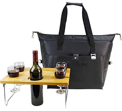 40 Cans Waterproof Insulated Cooler Bag, Large Lunch Tote for Picnic as Wine Carrier or Shopping Bag Gift for Mothers Day