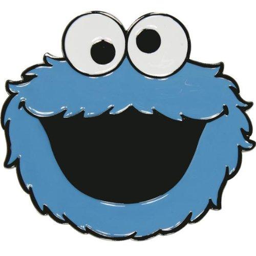 (Sesame Street Cookie Monster Face Metal Belt Buckle)