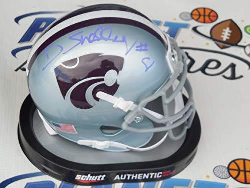 - Duke Shelley signed Kansas K State KSU Wildcats mini helmet COA