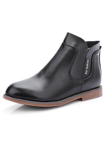 XZZ/ Damen-Stiefel-Kleid / Lässig-Kunstleder-Niedriger Absatz-Modische Stiefel-Schwarz / Braun / Weiß brown-us9.5-10 / eu41 / uk7.5-8 / cn42