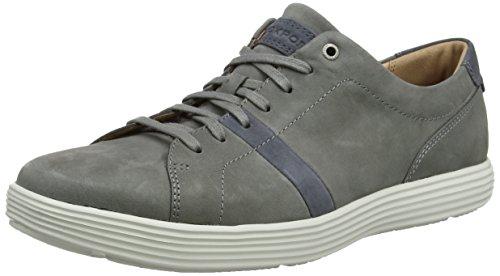 Rockport Thurston Lace Up, Zapatillas de Entrenamiento para Hombre Gris (Grey/blue)