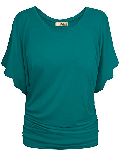 HyBrid & Company Womens Boat Neck Dolman Top Shirt KT44130 Jade Large