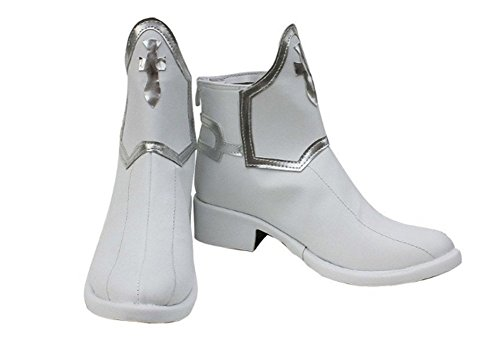 Halloween Sword Art Online Anime Asuna Yuuki Shoes SAO Cosplay White Boots Custom Made (Female -