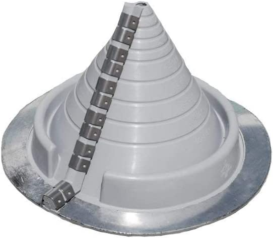 """#2 Round Gray Zip-Seal Pipe Flashing (3/8"""" - 4 1/2"""")"""
