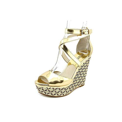 MICHAEL Michael Kors Gabriella Wedges in Gold (Size 8)