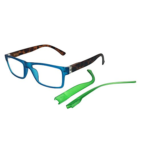 Optics Interchangeable - Beyond Optics Clarity Fashion Reader with Interchangeable Temples, Magnify 1.75, 0.25 Pound