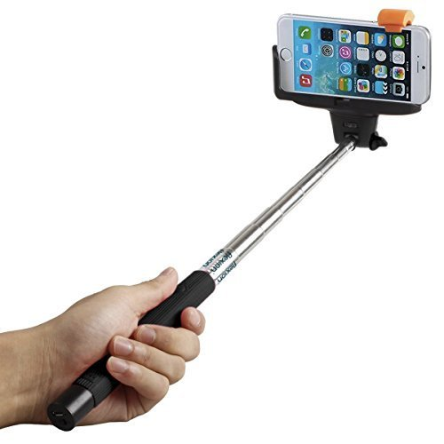 Selfie Stick, Flexion™ QuickSnap Pro 3-In-1 Self-portrait Monopod Extendable Wireless Bluetooth Selfie Stick with built-in Bluetooth Remote Shutter