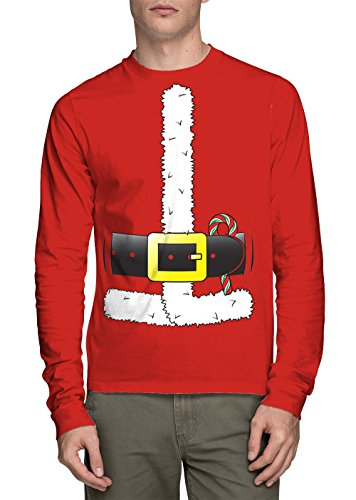 Sleeve Santa Claus Costume T shirt