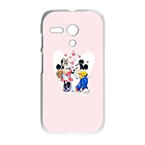 Mickey And Minnie Valentines Couple Motorola G Cell Phone Case White phone component AU_430346