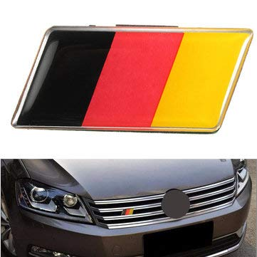 Exterior Accessories Car Stickers & Decals - Aluminium German Flag Badge Grille Emblem Car Sticker Decal Universal Decoration - 1 x German Flag Badge Sticker -