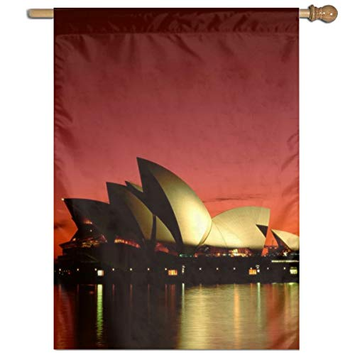 Bdna Sydney Opera House Garden Flag One Size Yard Flags For Holiday Party Indoor Outdoor Home Decorative]()