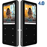 MP3 Music Players with Bluetooth 4.0, Portable Lossless MP3 Players, Audio Players with FM Radio for Running, 2.4'' HD Screen with Built-in Speaker, Aluminum Alloy Shell, Expandable to 128GB
