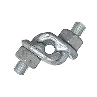 5pcs 0.24 Inch Wire Rope Clamp U Shape Bolt Grip