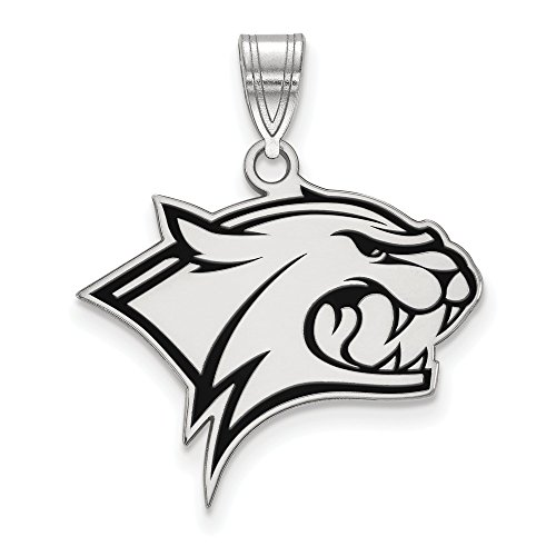 925 Sterling Silver Officially Licensed University College of New Hampshire Large Enamel Pendant by Mia Diamonds and Co.