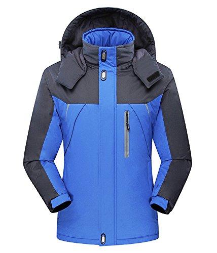 yovayosa Men's Waterproof Snow Jacket Ski Fleece Hooded Rain Jackets Winter Coats For Outdoor Sport