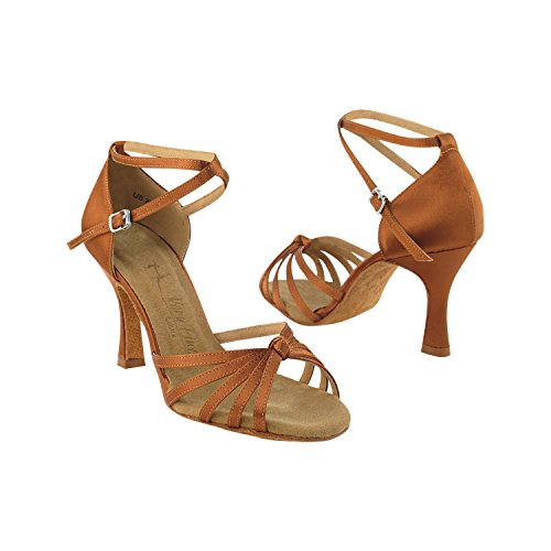 """Gold Taube Schuhe 50 Shades Of Tan Tanzschuhe, Komfort Abendkleid Hochzeit Pumps: Ballroom Schuhe für Latein, Tango, Salsa, Swing, Kunst von Party Party (2,5 """"& 3"""" Heels) 6005 - Dunkelbraun Satin"""