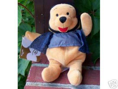Disney Witch Winnie The Pooh Halloween 2000 Plush Bean Bag Toy Doll Walt Disney -