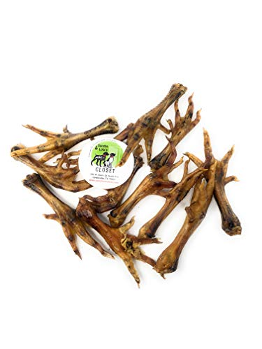 (Sancho & Lola's Dehydrated Organic Smoked Chicken Feet for Dogs (12-Count) - Smoked in Real Texas Pecan Wood in a Human-Grade Commercial Kitchen/Natural Source of Collagen, Glucosamine & Chondroitin)