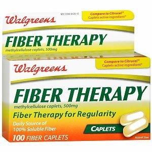 Walgreens Fiber Therapy Caplets, 100 ea