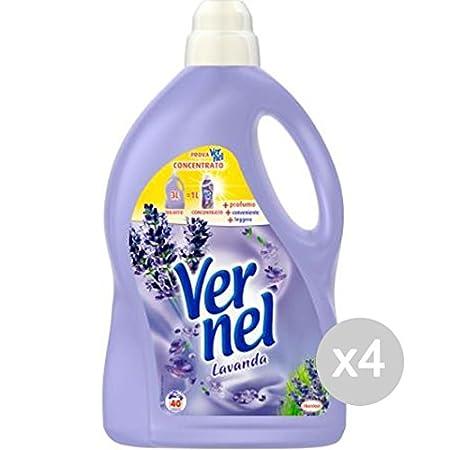 Juego 4 Vernel Suavizante LT 3 lavanda 40 Mis Detergente Lavadora ...