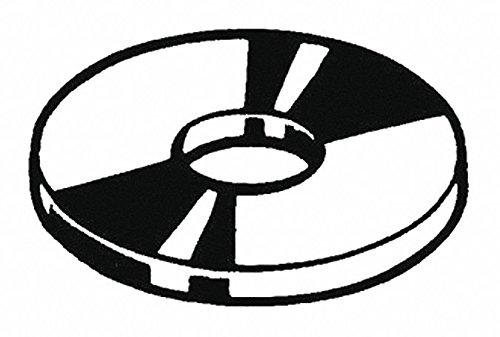 1/4'' x 2-1/2'' OD Plain Finish Low Carbon Steel Fender Washers, 100 pk.
