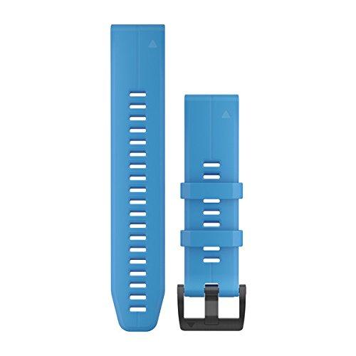 Garmin 010-12740-03 Quickfit 22 Watch Band - Cyan Blue Silicone - Accessory Band for Fenix 5 Plus/Fenix 5 by Garmin