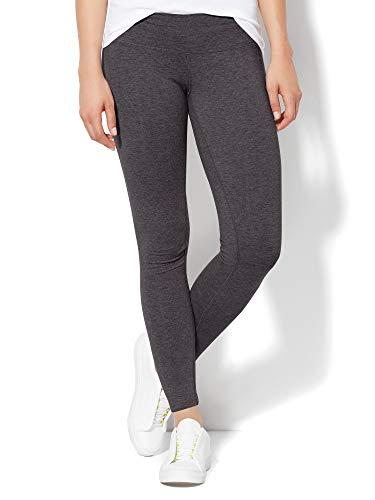 (New York & Co. Women's Grey Yoga Legging XLarge Graphite Heather Grey)