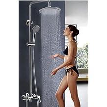 "Rozinsanitary NEW Wall Mounted 8"" Rain Shower Faucet Set Bathtub Shower Mixe Tap Shower Column"