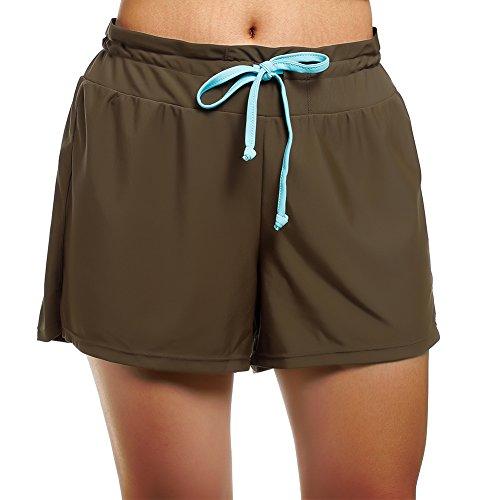 (Swim Shorts Swimsuits for Women with Bikini, Medium,)