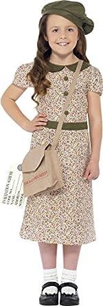 1940s Children's Clothing: Girls, Boys, Baby, Toddler Girls WW2 Evacuee Fancy Dress Costume $43.60 AT vintagedancer.com