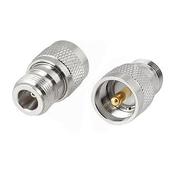 Uptell - Adaptador de cable coaxial de UHF macho a conector tipo N hembra (tono