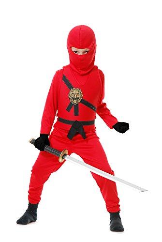 Charades Kid's Ninja Avenger Childrens Costume, red, X-Large