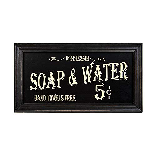 Ohio Wholesale Vintage Bath Advertising Wall Art, from our Americana Collection, from our Americana Collection (Bathroom Art And White Wall Black)