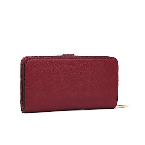 LeahWard Damen Clutch Handtasche Tasche Brieftasche Kartenhalter Telefonkasten Münzbörse für Frauen 03 (NUDE) BURGUND Et0gMcDDFD