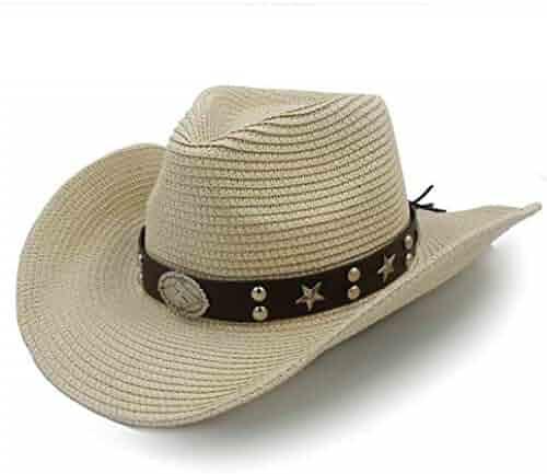 Mens Western Cowboy Hats Outdoor Summer Sombrero Beach Sun Cap Unisex e8f949fd9cee