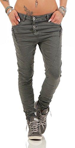 noir bleu 36 Fashion4Young Femme Gris Jeans Eqzz1taTn